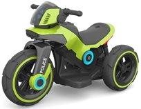 אופנוע Police 6V מפואר עם אפקטים ואור - ירוק Twist