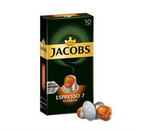 100 קפסולות אלומניום תואמות נספרסו JACOBS דגם CLASSICO דרגת חוזק 7