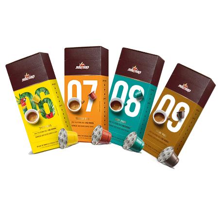 עדכני 150 קפסולות אספרסו קפה עלית תואמות נספרסו טעמים לבחירה VX-88