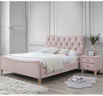 מיטת נוער מרופדת ורודה עם שידת לילה תואמת דגם PRINCESS