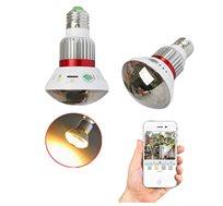 מצלמת IP אלחוטית נסתרת במנורת לד עם מיקרופון מובנה