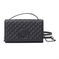 GUESS// G LUX MINI WALLET ON A STRING BLACK