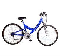 אופני הרים עם בולם קדמי, שלדה נמוכה והילוכים במגוון צבעים וגדלים
