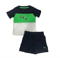 Puma /חליפה (12-0 חודשים)- כחול ירוק