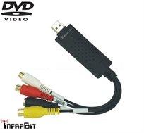 כבל להמרת וידאו ל-DVD תוצרת EasyCap, מתאים לחיבור מצלמות ונגני וידיאו, ממירים של חברות הכבלים ועוד