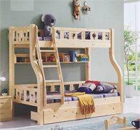 מיטת קומותיים מעץ מלא VAYA כולל מיטת חבר נשלפת