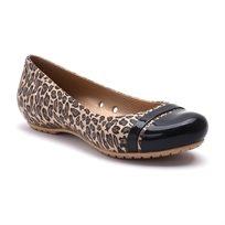 Crocs Cap Toe Graphic Flat - נעל בובה מנומרת