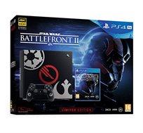 קונסולה PlayStation 4 Pro בנפח 1TB כולל Star Wars Battlefront II  + מטען זוגי מתנה
