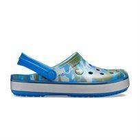 Crocs Crocband Printed Clog - כפכפי קרוקבנד בצבע כחול ארמי עם סוליית פלטפורמה