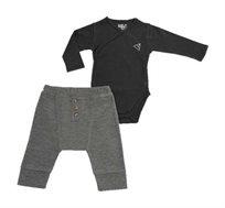 סט בגד גוף עם מכנסיים לתינוקות - צבע לבחירה