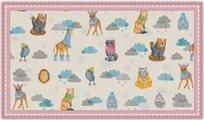 שטיח פעילות מעוצב לחדר ילדים Soft Mat במגע רך - חיות בחורף ורוד