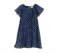 שמלת קפלים OVS לילדות פולקה דוטס - כחול/לבן