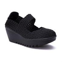 Rock Spring Brasil - נעלי פלטפורמה עם בד ארוג בצבע שחור