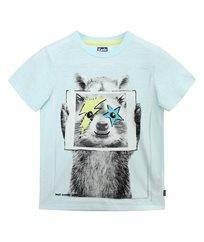 חולצת סינגל עם הדפס חיות