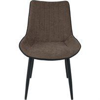 סט של 4 כיסא לפינת אוכל Cocoon - חום & שחור - משלוח חינם