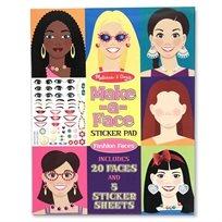 חוברת מדבקות פנים - Melissa & Doug
