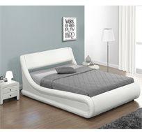 מיטה זוגית מרופדת בעיצוב מעוגל עם ארגז מצעים HOME DECOR