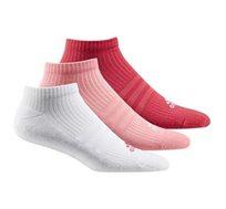 3 זוגות גרבי ספורט נמוכות לנשים ADIDAS דגם AY6437 במגוון צבעים