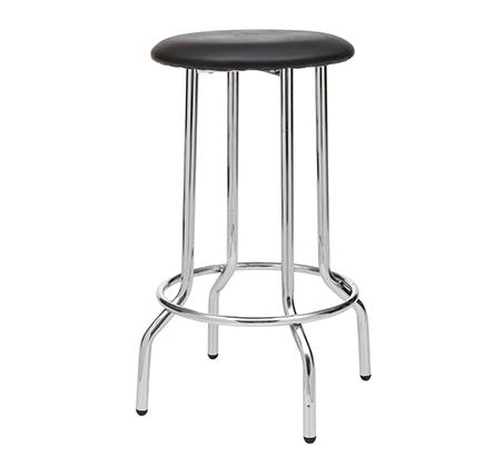כסא בר גבוה למטבח בריפוד סקאי דגם סטינג במבחר גוונים לבחירה