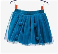 חצאית טול OVS לילדות בצבע טורקיז עם פונפונים