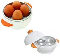 מתקן דמוי ביצה ידידותי לסביבה, להכנת 4 ביצים קשות במיקרוגל בתוך מספר דקות