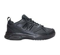 נעלי הליכה מעור לגברים New Balance דגם 624 בצבע שחור