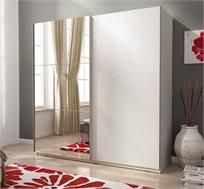 ארון הזזה 2 דלתות עם דלת מראה HOME DECOR דגם MIKI