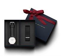 סט שעון יד לגבר Classic Sheffield + רצועת Cornwall  - כסף