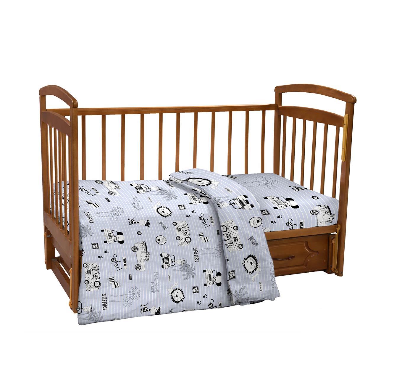 סט מצעים למיטת תינוק 100% כותנה סאטן במגוון דגמים