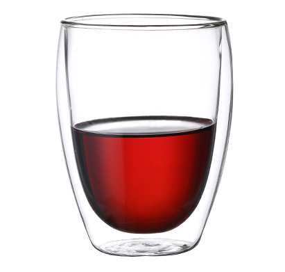 """סט 6 כוסות תרמיים מזכוכית עם דופן כפולה 350 מ""""ל"""