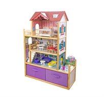בית בובות מעץ לילדות דגם ספיר ספירל