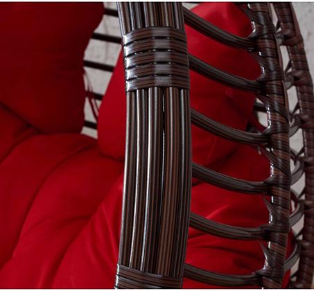 נדנדת ערסל LOVE SWING זוגית בגימור דמוי ראטן מעוגל עבה במיוחד HomeTown - תמונה 3