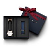סט Daniel Wellington לאישה הכולל שעון יד Classic Sheffield + רצועת Bayswater בצבע רוז גולד