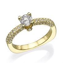 """טבעת יהלום וינטאג' """"ג'נסיס"""" זהב צהוב 1.05 קראט"""
