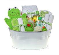 בייבי שאוור ירוק - מתנת לידה מקסימה ושימושית המורכבת ממוצרים איכותיים