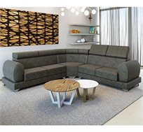 מערכת ישיבה פינתית בעיצוב מרשים מסוגנן וקלאסי דגם אמדאוס VITORIO DIVANI