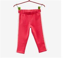 מכנסיים סטרצ'יות OVS לילדות בצבע אדום עם פס בצדדים