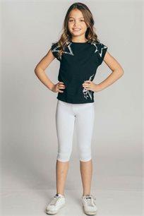 חולצת טריקו קצרה Kiwi לילדות בשני צבעים לבחירה