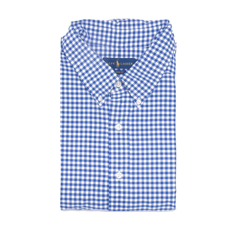 חולצה מכופתרת POLO RALPH LAUREN מידות גדולות - משבצות כחול לבן