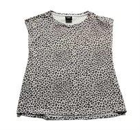 חולצה בהדפס מנומר Minene לבנות בצבע אפור/לבן