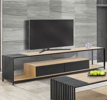 מזנון לסלון בעיצוב מודרני בעל שתי מגירות דגם פסיפיק