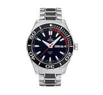 שעון יד שוויצרי לגבר SWISS MILITARY בעיצוב ספורטיבי עד 100M עם מחוגים ושנתות זוהרים