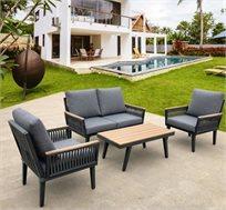 מערכת ישיבה דו מושבית דגם פריז למרפסת ולגינה