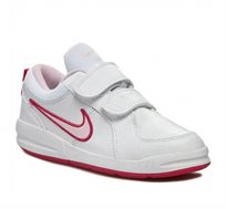 נעלי סניקרס לילדות - לבן ורוד