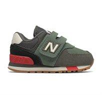 סניקרס לפעוטות 574 New Balance בצבע אפור/ירוק/אדום