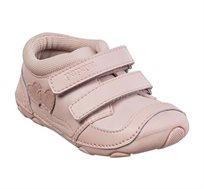 נעלי צעד ראשון לבנות דגם סופטי לבבות בצבע גוף