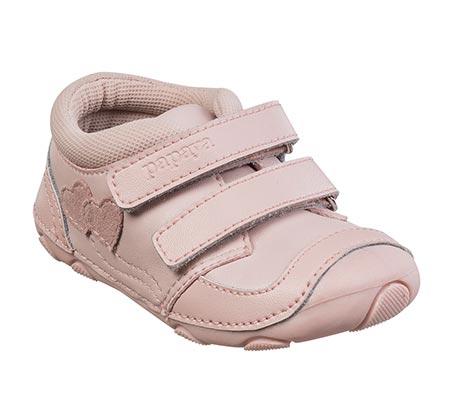 נעלי צעד ראשון לבנות דגם סופטי לבבות - גוף