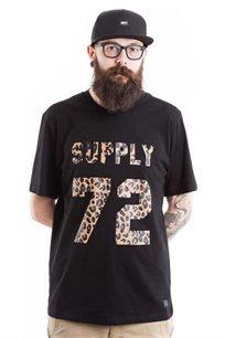 חולצת טי לגברים SUPPLY בצבע מנומר שחור