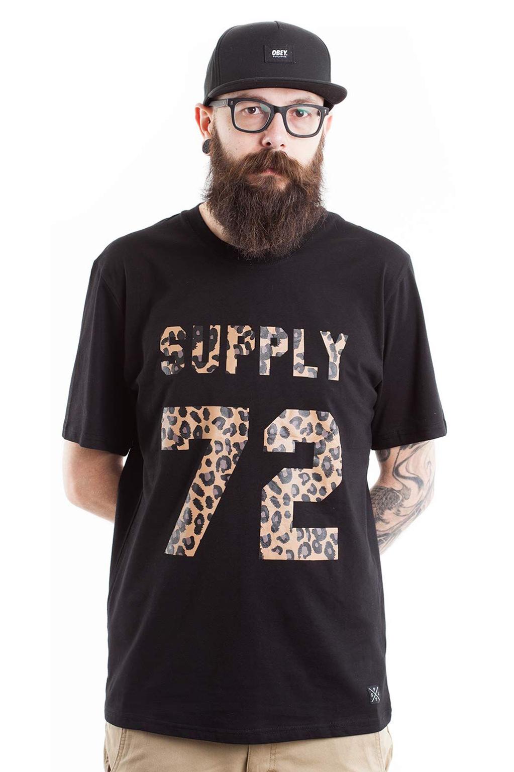 חולצת טי לגברים SUPPLY -מנומר שחור