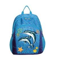 תיק גן קלאסי לילדים דגם דולפינים Kal Gav